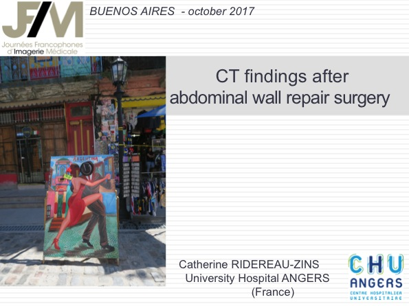 CT findings after abdominal wall repair surgery